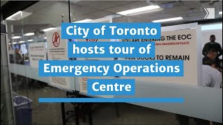 City of Toronto hosts tour of Emergency Operations Centre