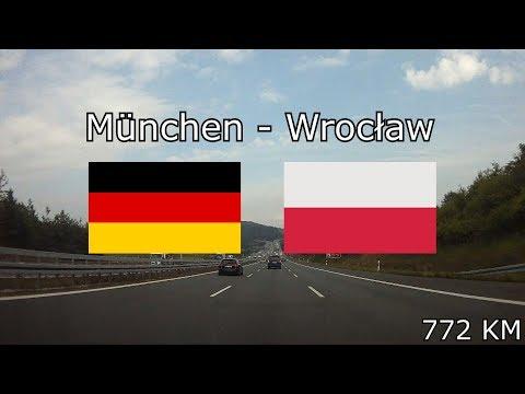 München (Germany) - Wrocław (Poland), 772 Km (x16)