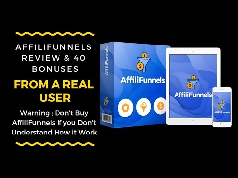 AffiliFunnels Review from Real User-Don't Buy AffiliFunnels Without Seeing This . http://bit.ly/2L0HGWi
