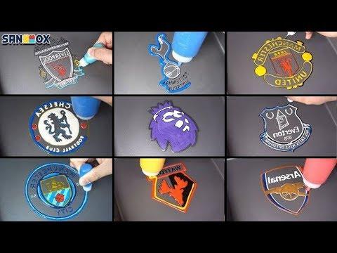Premier League Teams Pancake art - Liverpool, Tottenham, Manchestercity, Chelsea, Arsenal