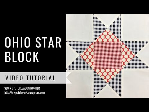Ohio star quilt block video tutorial