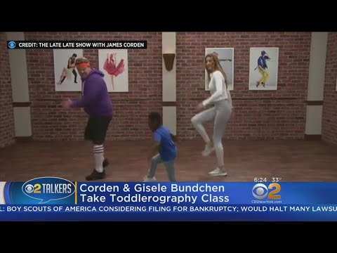 James Corden, Gisele Bundchen Take Dance Class