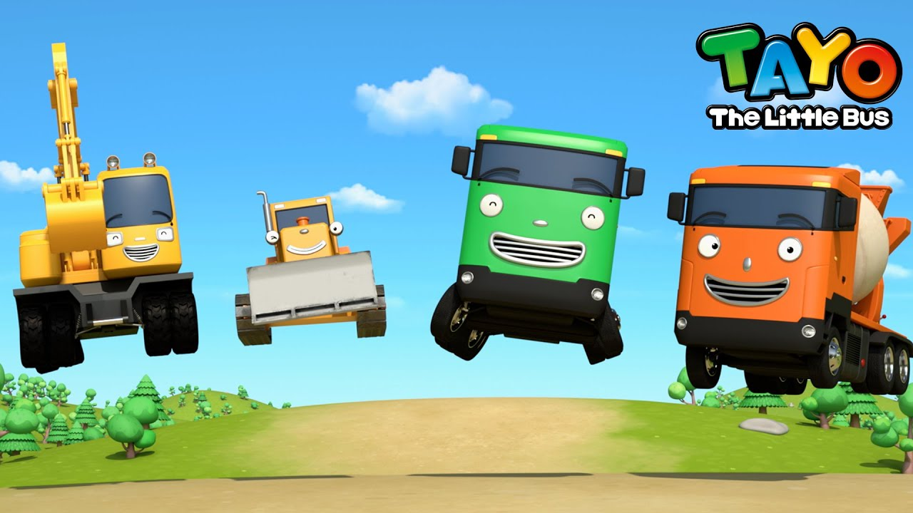 *NEW* Wheels on the Strong Heavy Vehicles l Vehicle Songs for Kids l Tayo the Little Bus