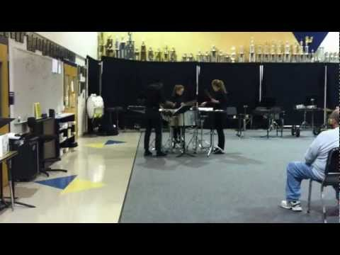 Spartanburg HS Percussion Ensemble (12-13) - Trio Per Uno - Mvt. 1