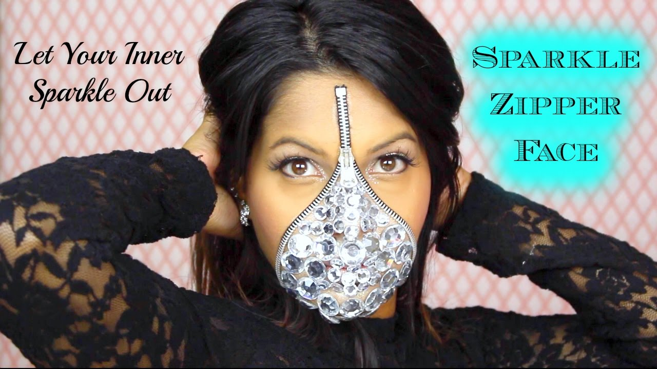 sc 1 st  YouTube & Sparkle Zipper Face | Easy Halloween Costume Makeup | Jana Kup - YouTube