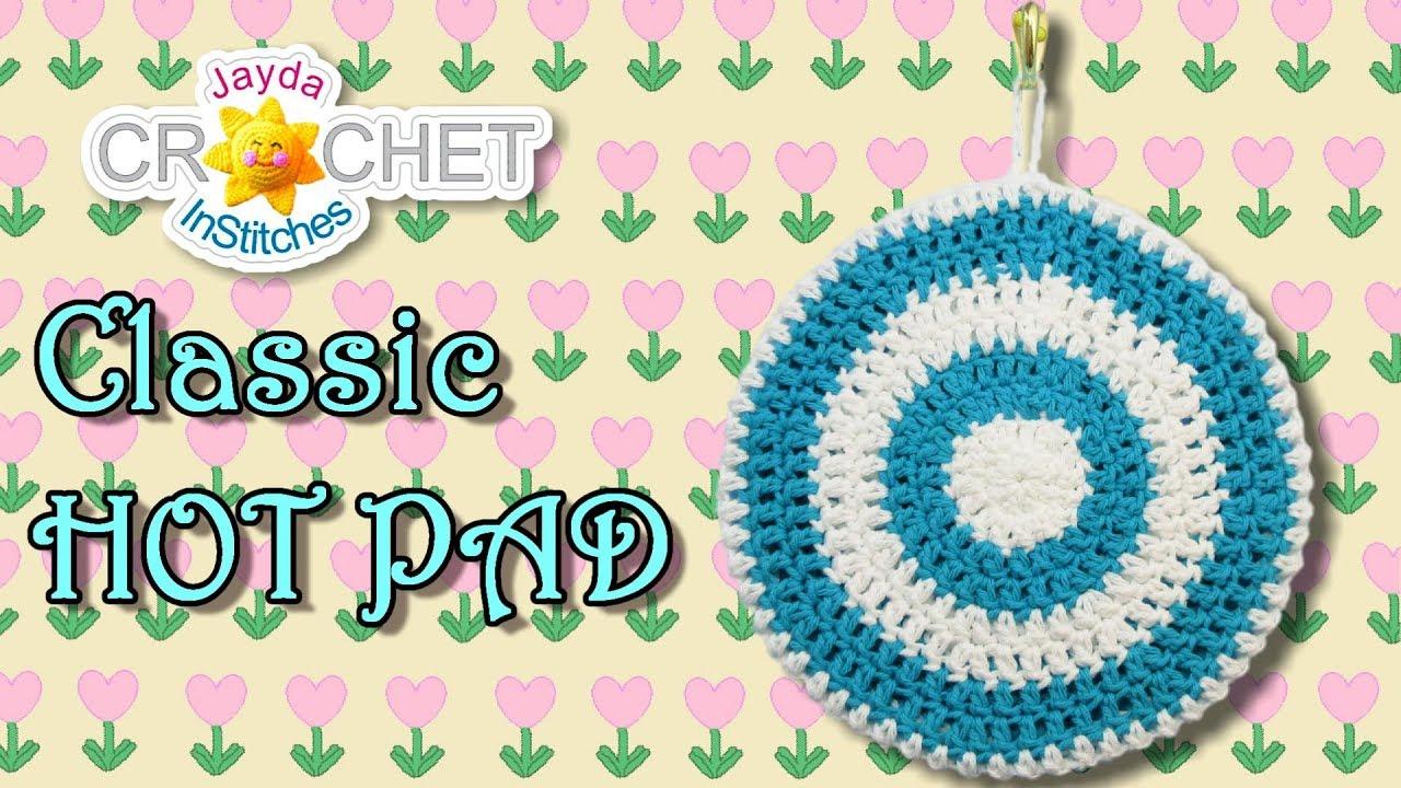Kitchen Hot Pad Pot Holder in Vintage-Style - Crochet Pattern - YouTube