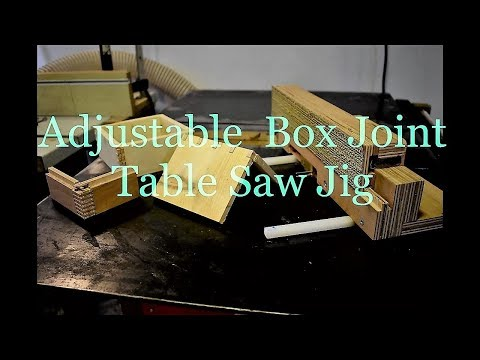 Using Adjustable  box joint table saw jig