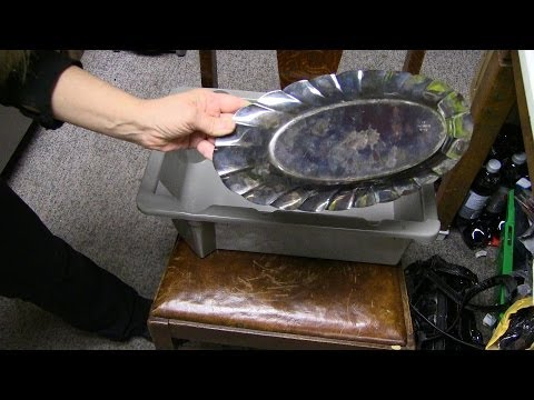 How To Clean Silver Plated Items with Aluminum Foil,Baking Soda and Hot Water | SAM |
