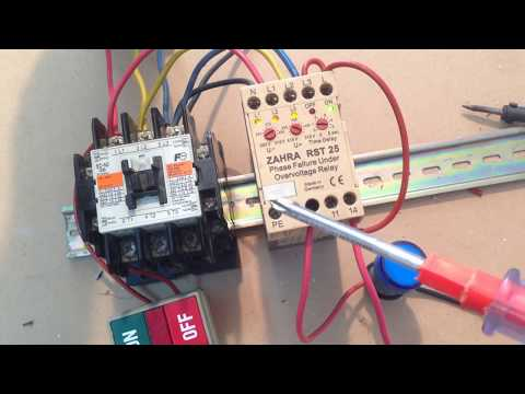 Phase failure and under & over voltage master control motor ... on