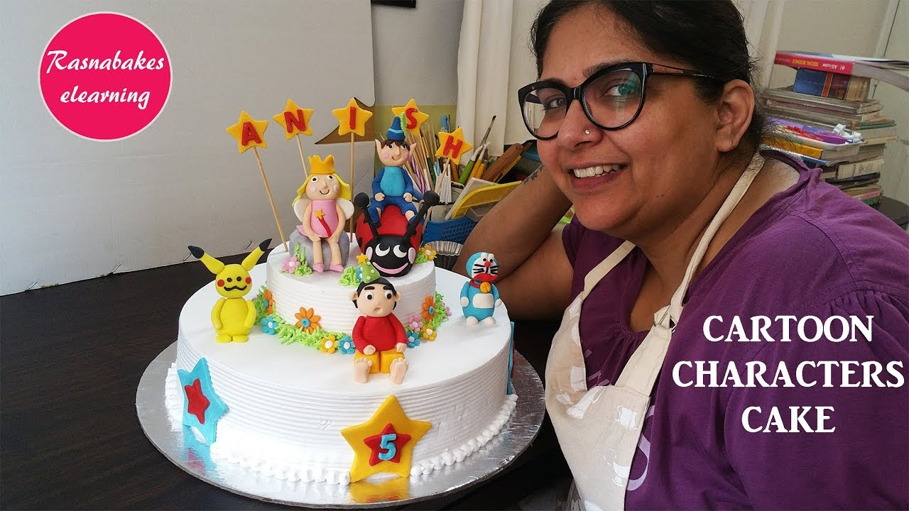 How To Make Cartoon Characters Kids Birthday Cake DesignDecorating Ideas And Pics Video