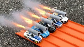 HOT WHEELS POLICE CARS ROCKET POWERED RACE !! thumbnail