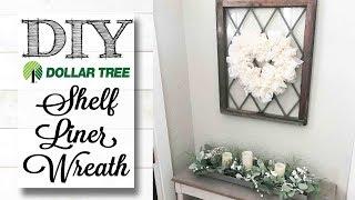 DIY Dollar Tree Shelf Liner Wreath