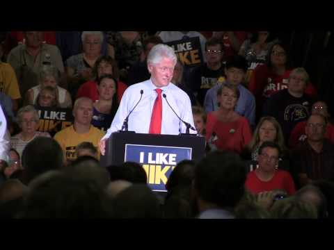 President Bill Clinton Speaking at Portland Expo Michaud Rally