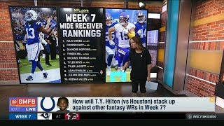 How will T.y. Hilton (Colts vs Texans) stack up against other fantasy WRs in Week 7?