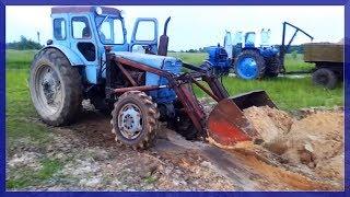 Трактор т-40 или Сороковка на карьере!