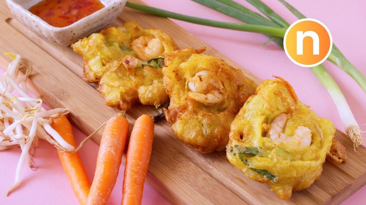 Cucur udang mamak   Prawn Fritters   Jemput-jemput udang [Nyonya Cooking] - YouTube