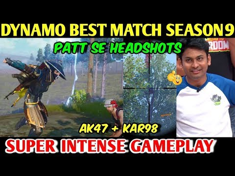 DYNAMO GAMING BEST Match of Season 9, AK47 + KAR98 Intense Gameplay PUBG MOBILE