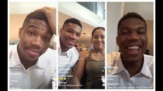 Giannis Antetokounmpo hyped after his brother gets in the NBA, talks about his future with the Bucks