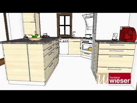 Insellösung Küche - Tischlerei Wieser - YouTube | {Küchen mit insellösung 96}