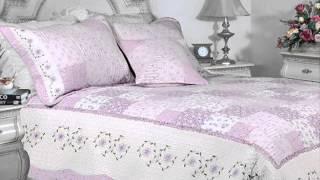 100% Cotton Floral Embroidered Patchwork Quilt Set; Quilts King Size, Duvet Cover Sets