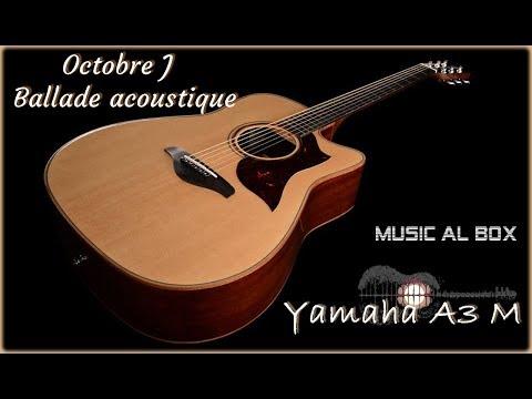 Octobre J , ballade acoustique (Yamaha A3M  & HX Stomp)
