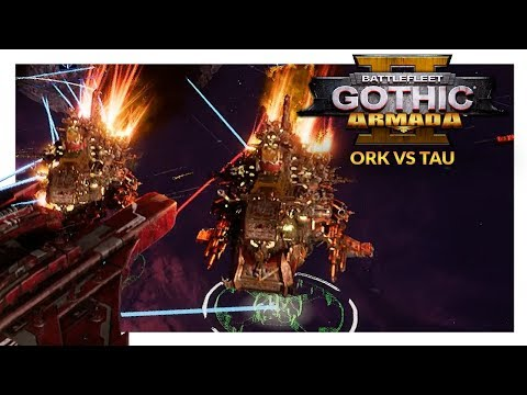 BATTLEFLEET GOTHIC ARMADA 2 | Orks vs Tau (1v1 Beta 2 Gameplay Ranked Battle 22)