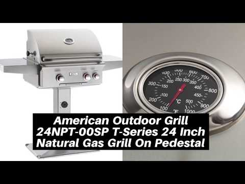 American Outdoor Grill 24NPT-00SP T-Series 24 Inch Natural Gas Grill On Pedestal