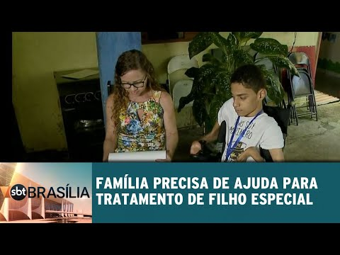 Família precisa de ajuda para tratamento de filho especial