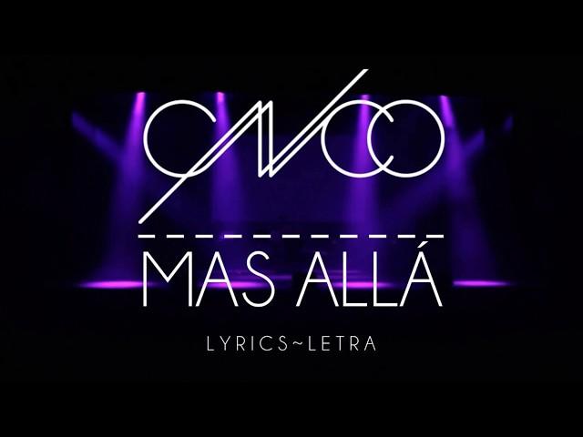 CNCO - Más Allá   Letra   Lyric Video