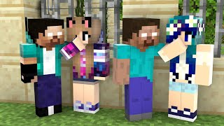 Monster School : XDJames Herobrine vs XDSchool Herobrine - Funny Minecraft Animation