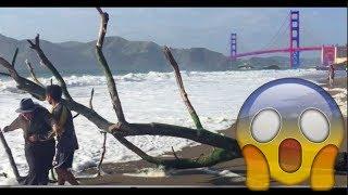SNOWING IN SAN FRANCISCO!? A Day in SF   San Francisco Ca (Baker Beach)