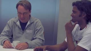 Which language does Linus Torvalds speak: Finnish, Swedish or English?