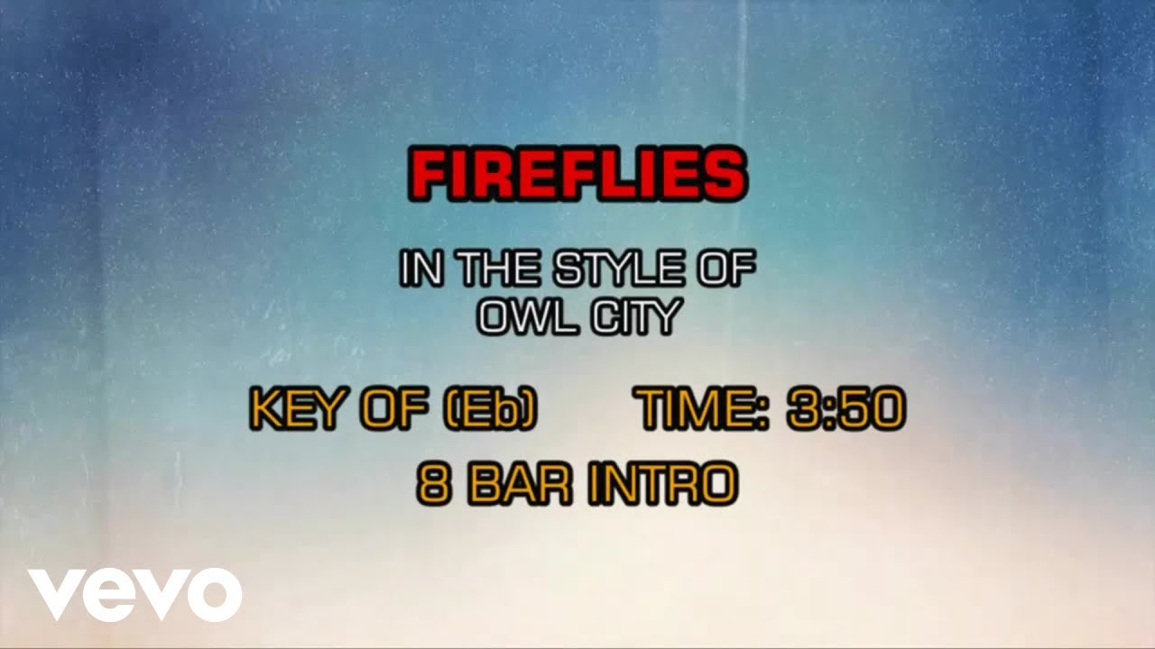 Owl City - Fireflies (Karaoke)