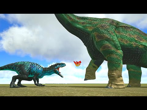 Ark Survival - BRACHIOSAURUS Vs LARGE DINOSAURS [Ep.404]