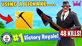 48 KILLS SOLO WORLD RECORD WITH PICKAXE!? (Fortnite FAILS & WINS #13)