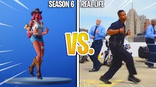 """TUTTI I NUOVI"" FORTNITE SEASON 6 EMOTES/DANCES IN REAL LIFE! (Fortnite Battle Royale)"