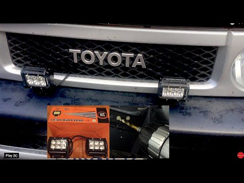 hqdefault how to install led fog lights on a stock oem bumper of the fj