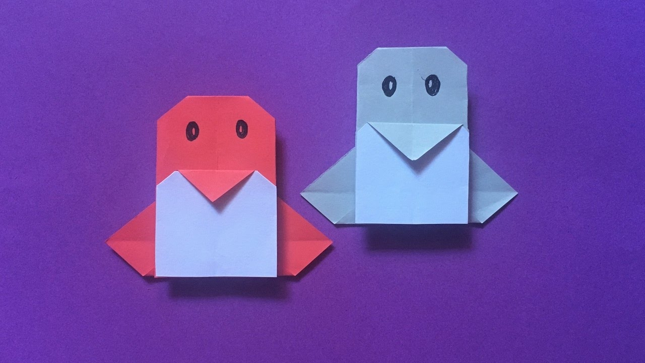 Easy Way To Make A Cute Penguin Face Paper Origami Tutorials Design Step By