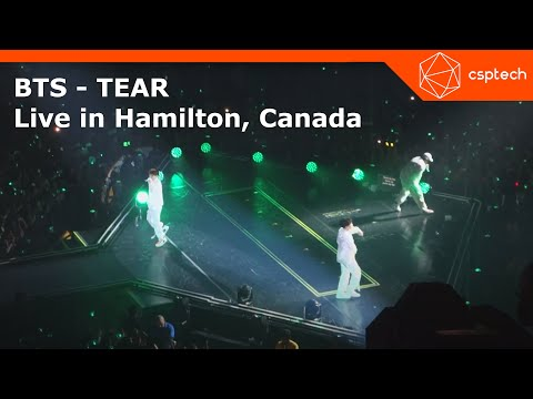 BTS - TEAR (Love Yourself World Tour - Hamilton 2018)  First Show in Canada