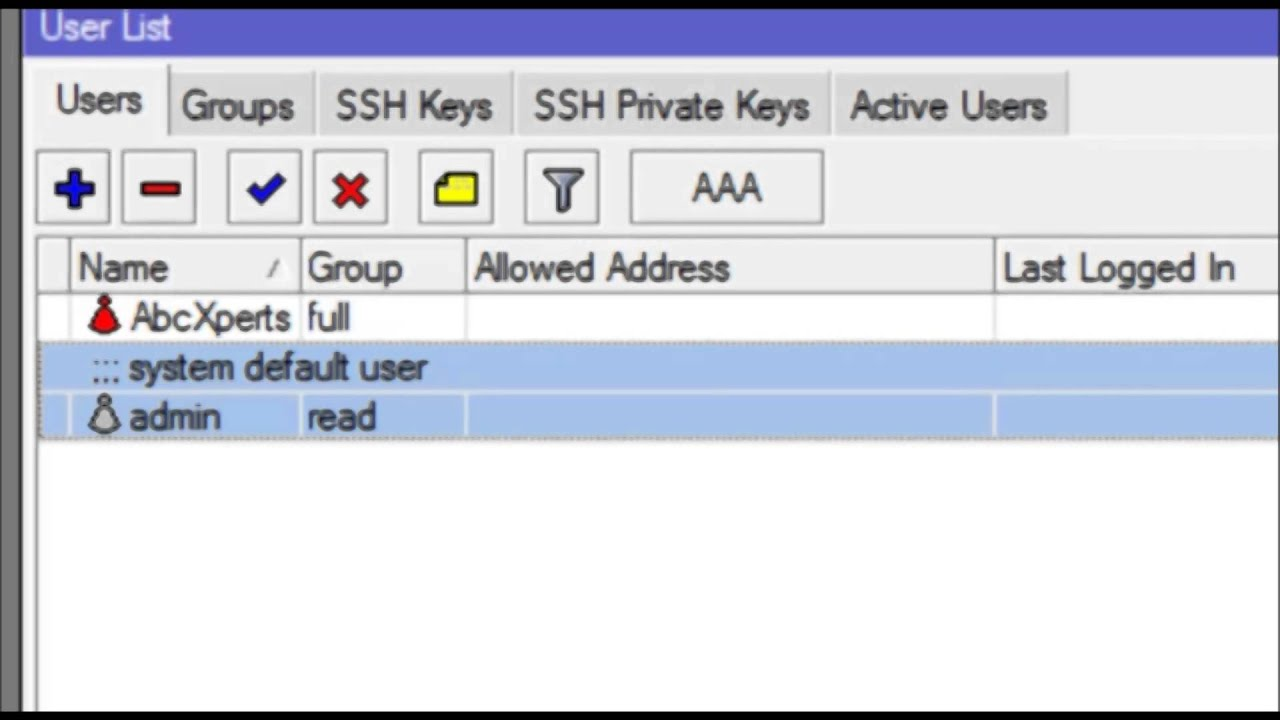 Administrando usuarios de Acceso al RouterOS