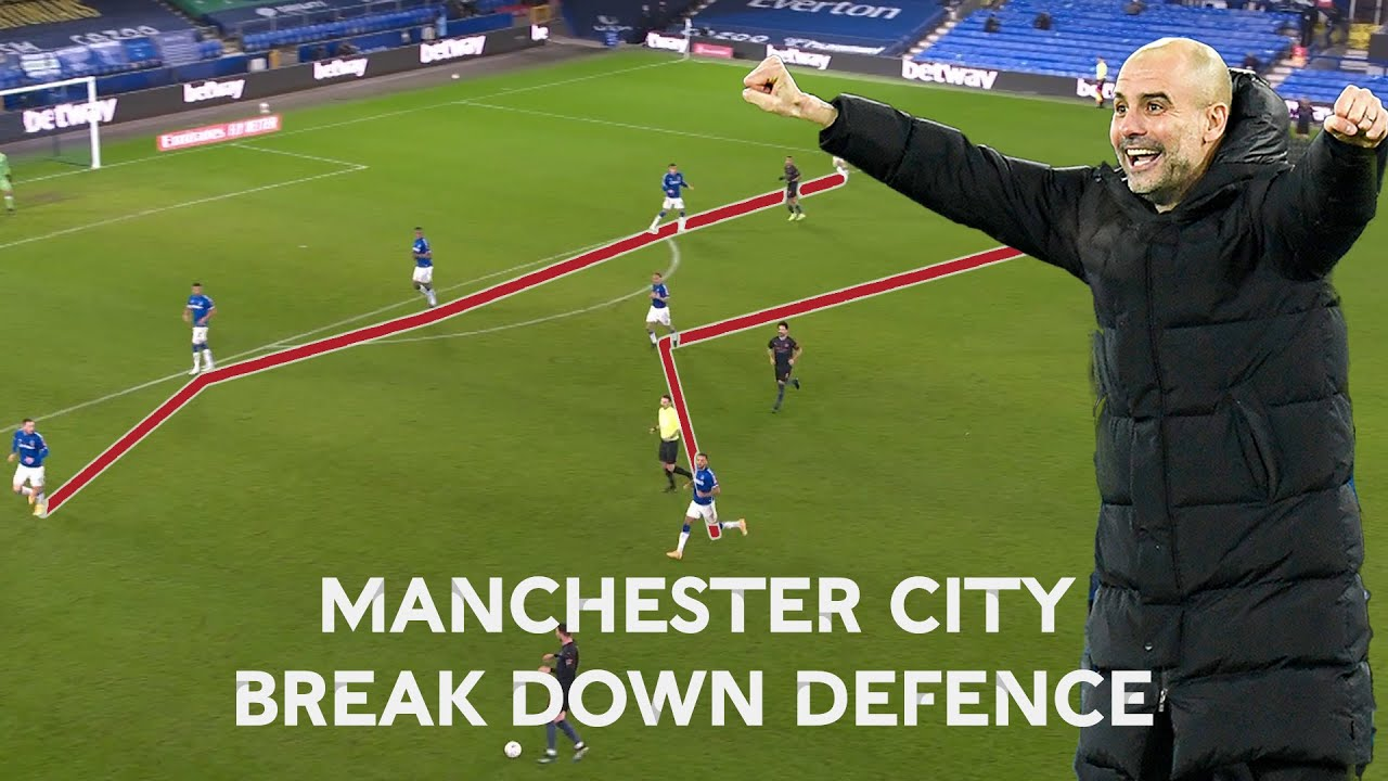 Manchester City's Break Down of Everton Defence in Closing Stages of Quarter-Final | FA Cup 20-21