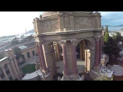 Drone through The Palace of Fine Arts 1080p HD