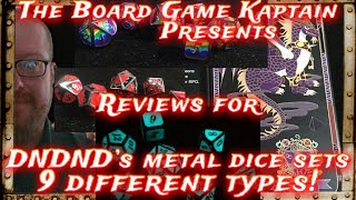 DNDND Metal Dice Set Reviews, 9 Different Sets!