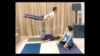 Sharin Ilmu Acro Yoga Bareng Wulan Guritno
