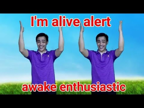 I'm Alive Alert Awake Enthusiastic- Action song || Sunday School Song