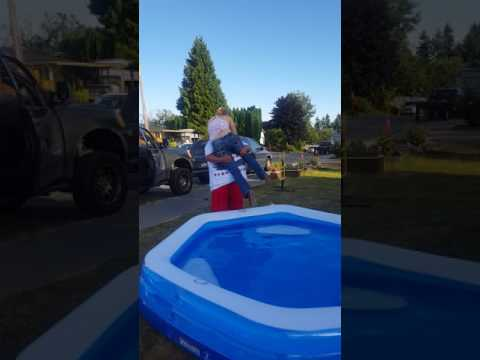Wife gets tossed into a pool! Happy 4th Everyone!