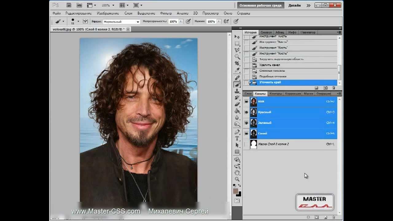 Как вырезать объект с волосами в фотошопе