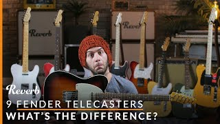 8 Modern Fender Telecaster Models (and One Vintage): What's the Difference? | Reverb