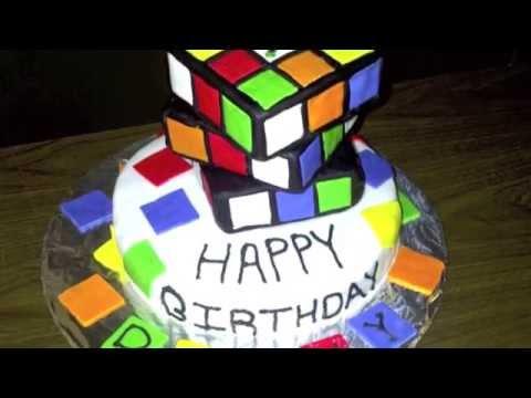 rubik s cube cake youtube