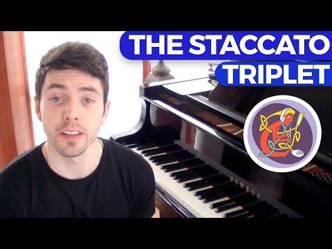 Irish Piano Lesson:  Learn 'The Staccato Triplet' + An Irish Slip Jig - Melody & Accompaniment